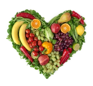 fruit veggie heart